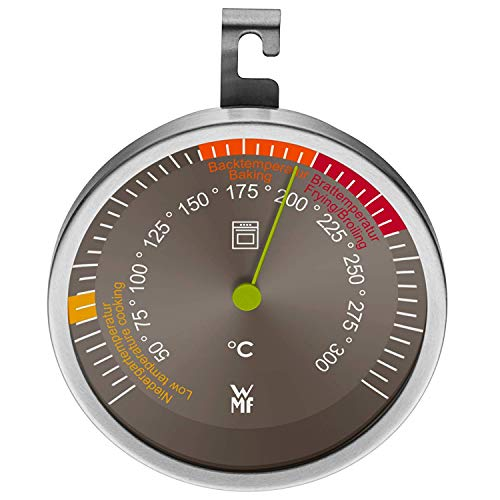 WMF Scala Backofenthermometer analog, Ø 6,5 cm, Cromargan Edelstahl, Glas bis 300°C