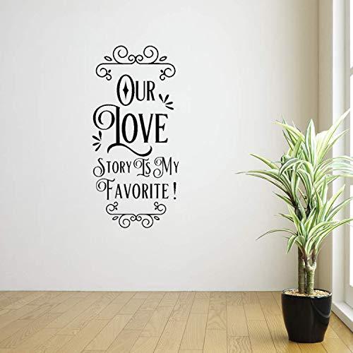 huangyuzzzz Wandaufkleber Unsere Liebesgeschichte Ist Mein Lieblings Valentines Home Decor PVC Aufkleber 38,1 cm * 80,2 cm (Decor Valentine Home)