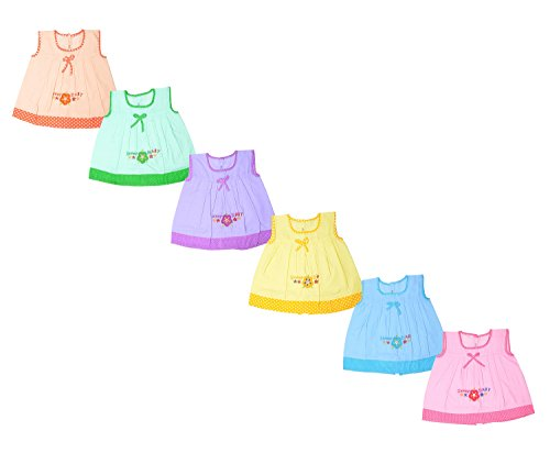 Sathiyas Embroidery Dresses for Kids(inf60),0-3 Months(Multicoloured,asvinf60)
