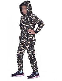 Mono Militar de Camuflaje con Estampado de Camuflaje para niños, Mono de All In One Boys Girls Diapason Envejecido de 7-8 años