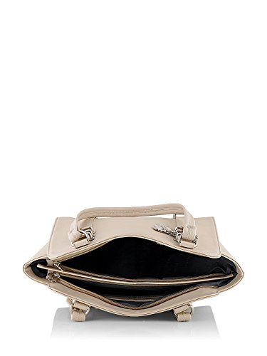 Butterflies Women's Handbag (Cream) (BNS WB0153)