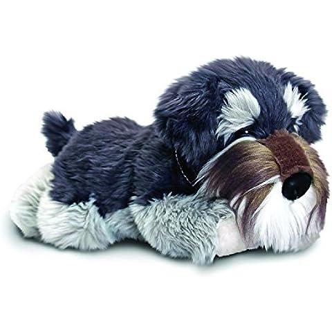 Cucciolo di cane SCHNAUZER grigio di peluche,
