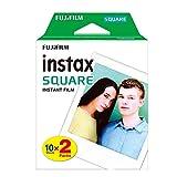 20 hojas de papel fotográfico para Fujifilm Instax Square Twin Pack Film Blanco Edge Papel fotográfico para Instax SQ10 SQ6 Cámara instantánea Compartir SP-3 Impresora