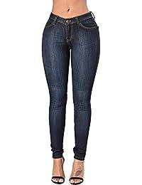 Newbestyle Hosen Damen High Waist Jeans Slim Skinny Sommerhose Stretch Jeanshose Denim Pants