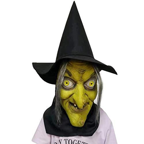QHJ Halloween Kostüm Party Maske Weihnachten Halloween Hexe Kopfmaske geeignet für Tanzpartys und andere Orte Helloween Kostüm Party - Orte Für Kostüm