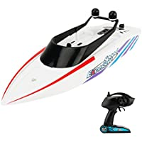 ALLCACA RC Boat 2.4GHz Radio Controlled Racing Boats High-speed Remote Control Ship, White - Compare prices on radiocontrollers.eu