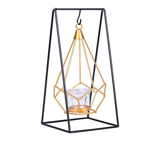 Morran Laterne aus Metall Nacht Hängende Tischlaterne Kerzenhalter Candlelight Dinner Requisiten im Nordischen Stil Kreatives Geschenk