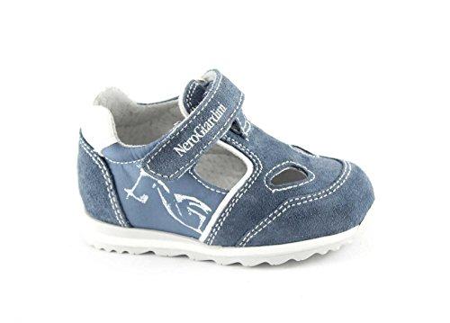 BLACK JARDINS JUNIOR 23821 aviation bébé bleu sandales chaussures fermées à la déchirure