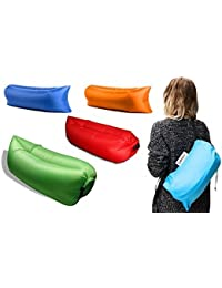 Allium Fast Inflatable Portable Hangout Lazy Air Bag Sofa Bed Suitable For Camping, Travel, Beach And Other Activities...