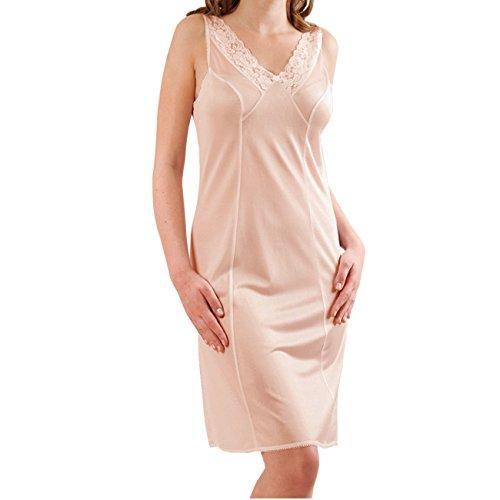 Graziella by Galeja Damen Unterkleid Unterrock mit Spitze 98 cm Antistatisch Puder Gr. 46 Made in Germany -