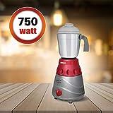 Inalsa Jazz Dx 750-Watt Mixer Grinder with 3 Jars (Grey/Maroon)