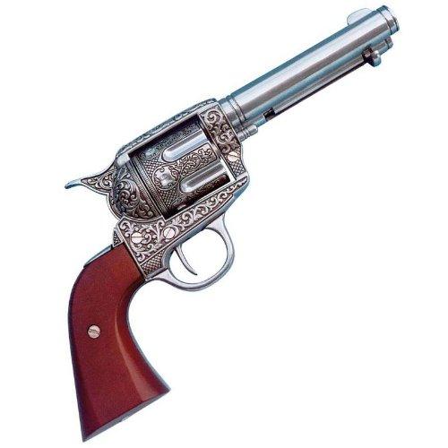 45er-colt-peacemaker-verziert-nickel-deko