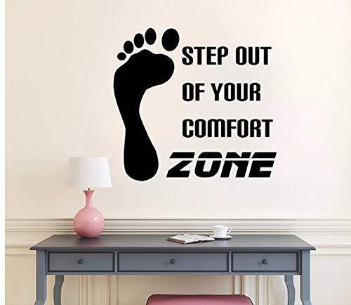attoo Motivation Phrase Schritt Komfort Zone Vinyl Aufkleber Inspiration Zitate Aufkleber Schlafzimmer Home Decor Abnehmbare ()