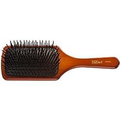 Eurostil Cepillo de pelo cepillo grande de madera con cerdas de plástico neumático Cepillo plano