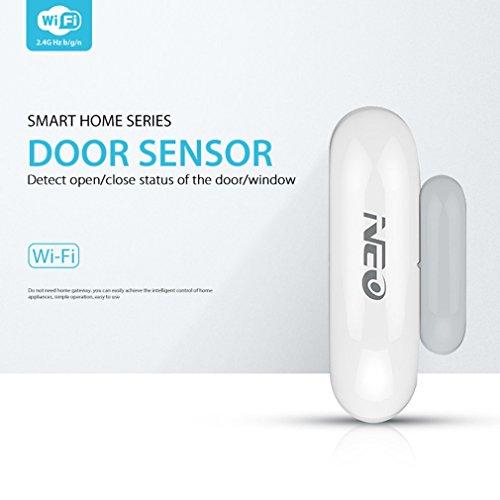 FairytaleMM NAS-DS01W Détecteur Smart Window Window WiFi Plug & Play Surveillance à Distance (Couleur: Blanc)