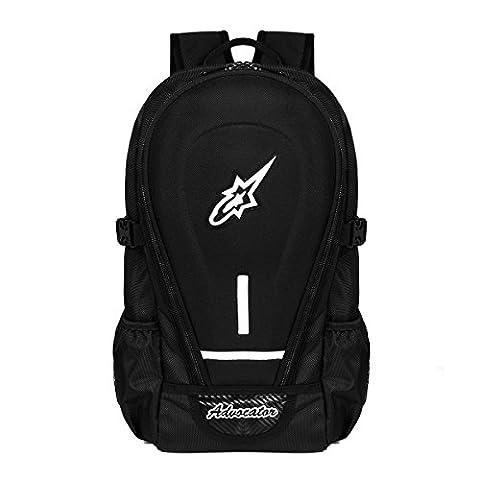 Advocator Moto Hommes Sac à Dos avec Housse de pluie 14Inch Noir Laptop School Sacs à dos Packsack Daypack Sacs à bandoulière Sacs à dos pour Voyage & Bike & Camping & Outdoor Sports
