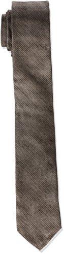 Calvin Klein Herren Krawatte Slim 6.4 Cm glatt, Braun (Taupe), One size