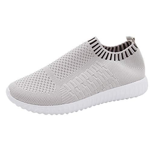 YWLINK Mode Mesh Damen Sneakers Outdoor Mesh Freizeit Sportschuhe Klassisch Atmungsaktive Laufschuhe (B Grau,39 EU)