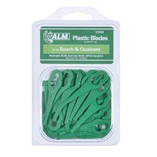 ALM QT028 Qualcast Easi-Lite 28/30 Bosch Tondeuse à Gazon Plastique Lames X 20pk