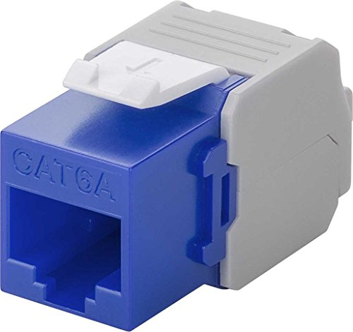 Kab24® KeyStone Jack blau CAT 6a 500MHz RJ45 Toolless Werkzeugfrei UTP SNAP-IN max. 10 GBit/s - Cat5e Keystone Jack Blau