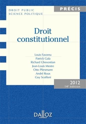 Droit constitutionnel par Louis Favoreu