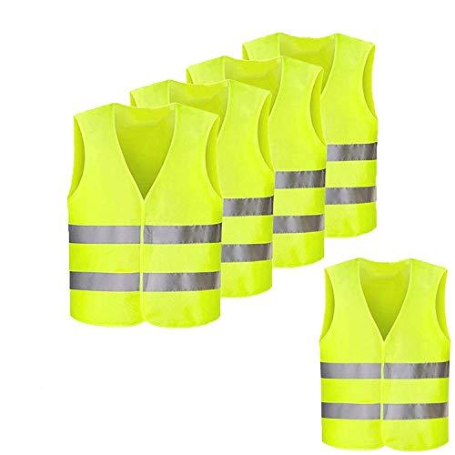 pour la Course de Nuit Cyclisme Jogging Aesy Haute Visibilit/é de Gilet de S/écurit/é Respirable de Maille Orange Randonn/ée 3 LED Gilet de S/écurit/é R/éfl/échissant Marche Snowboard