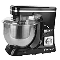 Sonashi 6 Speed 3 in 1 Stainless Steel Stand Mixer 1000 Watts SMX-140