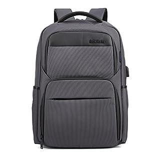 Wasserdicht Laptop Rucksack mit USB-Anschluss - Arctic Hunter Grau Rucksack Passt Bis zu 15,6 Zoll Laptops für Reise, Schule, Business, Arbeit
