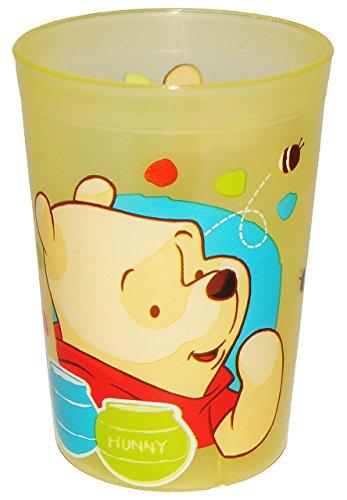 """"""" Disney Winnie the Pooh """" - 3 in 1 - Trinkbecher / Malbecher / Zahnputzbecher - Becher durchsichtig & transparent - Trinkglas aus Kunststoff Plastik - Mädchen & Jungen - für Kinder - Kindergeschirr - Kinderbecher / Kinderglas - Puuh Teddy Bär Tigger - Honig"""