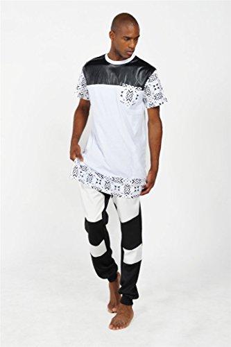 bd7272e4c8b1 Pizoff Unisex Hip Hop Langes TShirt mit Medusa Druckmuster und  Reißverschluss Y1242
