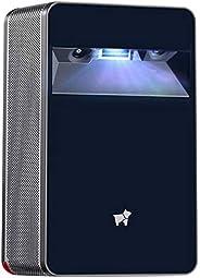 Portable Ultra-Short-Throw Mini Projector - Puppy Cube Smart Touchscreen Projector, Auto-focus, DLP, Wi-Fi &am
