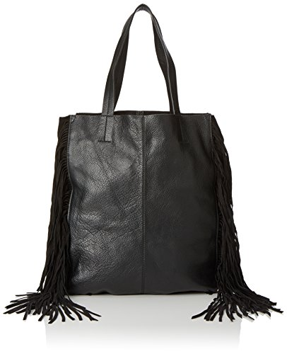 PIECES Pcpusle Leather Bag - Borse a spalla Donna, Schwarz (Black), 14x37x31 cm (B x H T)