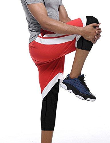 Mens-Compression-34-Capri-Shorts-Cool-Dry-Baselayer-Sports-Tights-Leggings