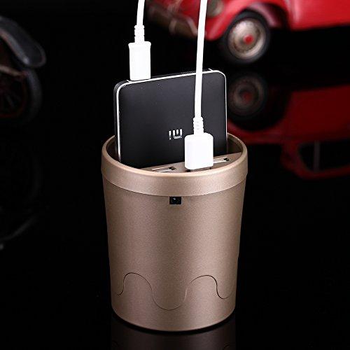 Yunshangauto® 15W 3 Ports Auto KFZ USB Ladegerät Becherhalter Design für iPhone 4/5/6/6S Plus Samsung Galaxy S5/S6/S7 Edge Windows Smartphones Tablets