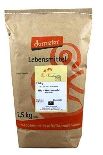 Organico medio farina di frumento 3x 2,5 kg - Demeter grano biologico di farina tipo 1050