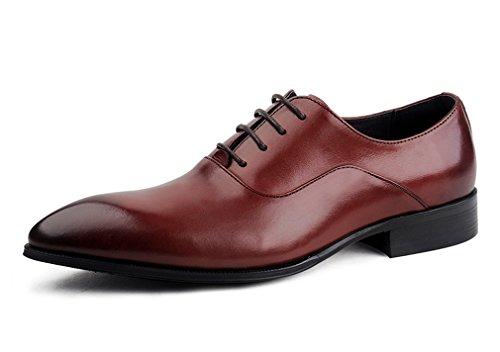 Leder-fahrer-schuhe (Dilize Herren New Arrival Smart Leder Oxford Spitze bis Kleid Schuhe, Braun - braun - Größe: 44 EU)