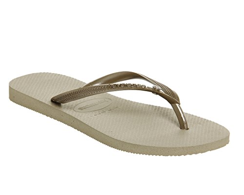 Havaianas Slim Crystal Glamour Sw Infradito, Donna Gold Rubber