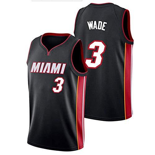 ZAIYI-Jersey Herren Basketball Trikot Dwyane Wade # 3 NBA Miami Heat New Stoff Bestickt Swingman Jersey Ärmelloses Shirt (Color : D, Size : XL) Dwyane Wade Jersey