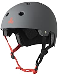 Triple 8 Kopfschutz Brainsaver Double Certification - Casco de skateboarding, color Plateado, talla L/XL