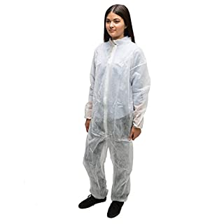 AMMEX - CO35XL - 35 gsm (grams per square meter) Spun-bond Polypropylene Coveralls, Extra Large - 25/case