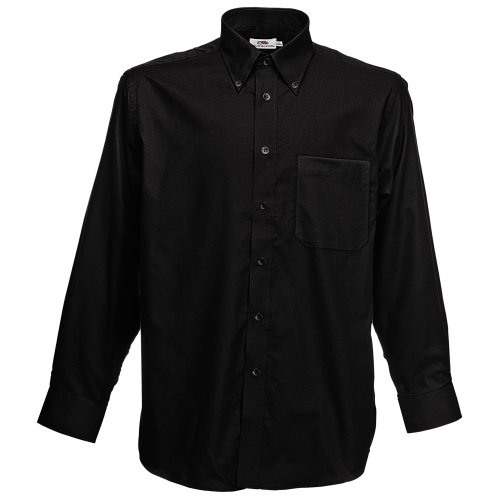 Fruit of the Loom Long Sleeve Oxford Shirt, Chemise Casual Homme Fruit of the Loom