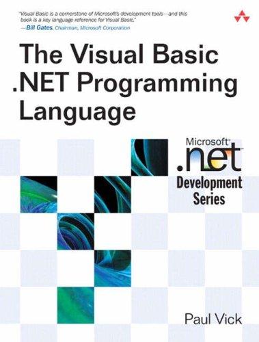 PDF] Download The Visual Basic  NET Programming Language
