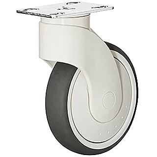 Design Transportrollen lenkbar Möbelrolle aus Kunststoff Lenkrollen mit Anschraubplatte - H9060   Rollen-Ø 163 mm   Tragkraft 110 kg   Bauhöhe 80 mm   MADE IN GERMANY   Möbelbeschläge von GedoTec®