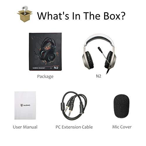 d7054bc3a4b ELEGIANT Auriculares Gaming PC, Cascos Gaming Headset con Micrófono de  Vídeojuego con Cancelación de Sonido