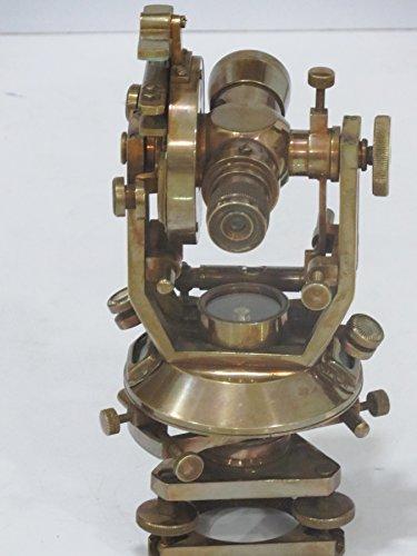 Nautisches Antik Messing Theodolit 25,4cm Optische precission Hohe Ultra