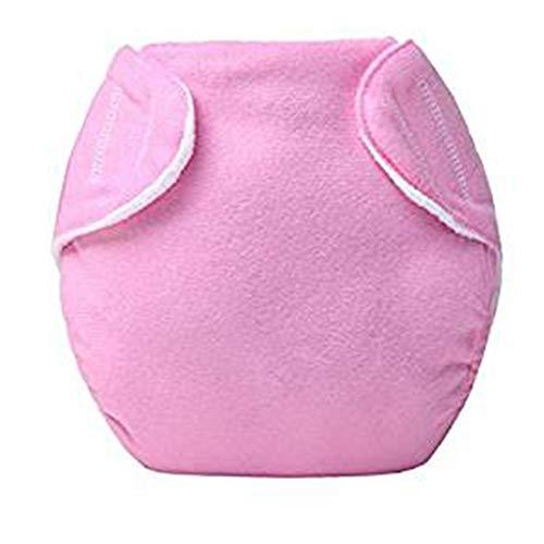 2019 Neue Wiederverwendbare Babytuchwindeln Einheitsgröße Waschbar ausgestattet Taschenwindeln (Rosa, Eine Größe passt meistens)