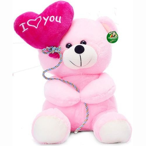 Tickles Pink I Love You Balloon Heart Teddy