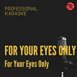 For Your Eyes Only (Backing Track Version)