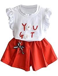 Amazon.it  pantaloni fiori - Bambine e ragazze  Abbigliamento d2eb22eb67e