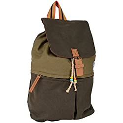 Almolfa Canvas School College Backpack-bookbags for Girls/students/women/Unisex 17 Liters Olive Green Casual Backpack Rucksack